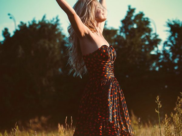 freedom, girl, dress